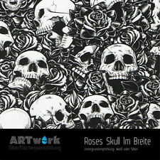 Wassertransferdruck Folie WTD Starterset 1m Roses Skull + Aktivator