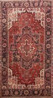 8x12 Vintage Geometric Heriz Traditional Area Rug Hand-knotted Oriental Carpet