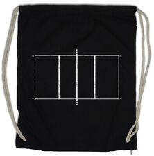 Volleyball Court Drawstring Bag Player Passion Love Addiction Field Game