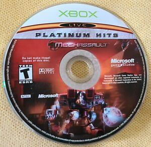 MechAssault (Microsoft Xbox, 2002) Platinum Hits Rare Disc Only Free Shipping