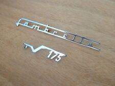 LAMBRETTA TV 175  LEGSHIELD CHROME BADGE SET - BRAND NEW