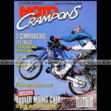 MOTO CRAMPONS N°63 FANTIC 247 KAWASAKI 125 KDX YAMAHA DTRE SUZUKI TSR LEISK 1990