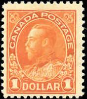 Canada Mint NH F Scott #122b 1923 $1.00 King George V Admiral Stamp