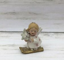 "1999 Walnut Ridge A Glimmer Of Hope IV Skiing Angel Girl Ornament 3"" #C"