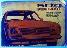 Notice d'utilisation et d'entretien 504 L Peugeot