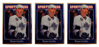 (3) 1992 Sports Cards #95 Wayne Gretzky Hockey Card Lot Los Angeles Kings
