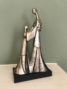 Good Ceramic Sculpture of a Mother and Daughter by the Italian Artist Nello Bini