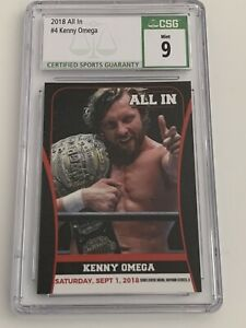 Kenny Omega 2018 All In #4 USA RC CSG 9 Mint AEW All Elite Wrestling Rookie