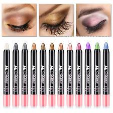 12 Farben Schimmer Lidschattenstift Lidschatten Eyeliner Pen Kosmetik Makeup w\