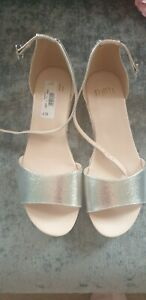 Faith Womens Silver Ankle strap sandals  UK Size 6 BNWT