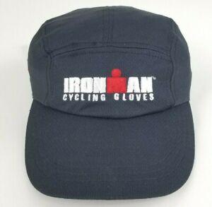 New Ironman Triathlon Headsweats Performance Cycling Hat Cap OSFA Black Blue