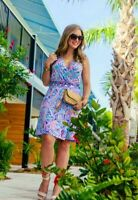 NWT LILLY PULITZER BELLINA WRAP DRESS MULTI SHELL ME ABOUT IT XXS PRETTY!