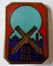 Insigne 63° RAA Régiment Artillerie Afrique rare variante !!!  Drago ORIGINAL
