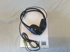 HCL Lightweight Headphone + In-line Mic Black/Blue