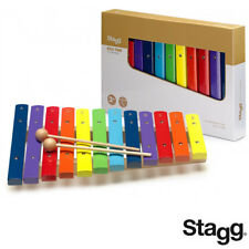 Stagg Xylophone With 12 Color-coded Keys And Two Wooden Mallets Xylo-J12 Rb