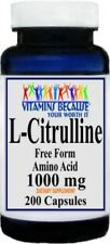 L Citrulline 1000 mg 200 Capsules Potency, Quality Whole Herb Product Of USA