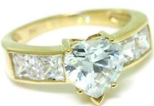 2.50ct Sparkling 9ct 9K 375 Solid Gold Heart  Ring - Bravo Jewellery