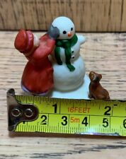 Vtg Dept 56 Christmas Village Girl Dog Snowman Building Millard Lister