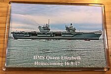 HMS QUEEN ELIZABETH Aircraft Carrier - 1st Arrival at Portsmouth Fridge Magnet b