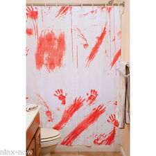 Creepy Shower Curtain Blood Stains Halloween Party Decoration