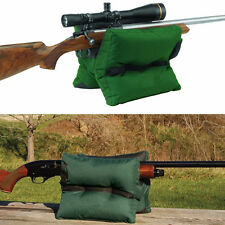 Large Shooting Sand Bag Set Rifle Gun Bench Rest Range Gear Front & Rear Bag