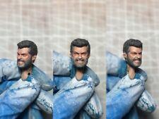 """Painted Service 1/12 Old Wolverine Logan Hugh Jackman Head Sculpt fit 6"""" Figure"""