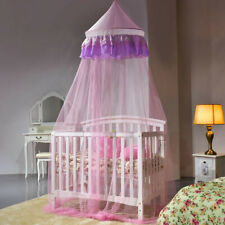Elegant Lace Princess Round Dome Bedding Net Mosquito Netting Mesh Tent Pink