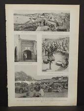 Harper's Weekly Single Pg The Public Market Tangier  C1890s B4#01