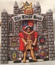 """The Kings Head"" Sandra Rich Ceramic Teapot Hand Painted England"