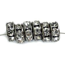 Strassrondelle 8 mm Farbe hämatit kristall 30 Perlen Spacer nenad-design AN469