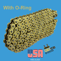 O-Ring Drive Chain Gold Color 520 x114  ATV Motorcycle 520 Pitch 114 Links