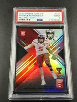 PATRICK MAHOMES 2017 PANINI ELITE DRAFT 145 DIE CUT RED HOLO ROOKIE RC /49 PSA 9