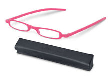 +1.00 Diopter SlimViews Reading Glasses - Bubble Gum Spectacles, Cheaters, Specs