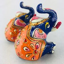 NEW Collectable Ceramic China Sitting Elephant Figurine Hand Painted GIFT