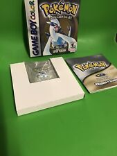 NINTENDO GAMEBOY GAME pokemon silver BOXED & COMPLETE + NEW BATTERY very Nice 1p