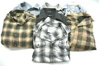 Wholesale Bulk Men's Medium Various Brands Long Sleeve Button Up Shirts Lot of 7