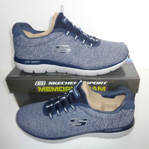 Skechers Mens New Memory Foam Casual Navy Trainers Shoes RRP £67 UK Size 11