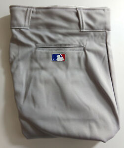 NEW Majestic MLB Adult Pro Style Baseball Pants Cuffed Various Sizes Gray 8574