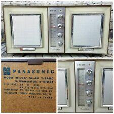 Panasonic Vintage Solid-State Dual Speaker AM/FM Radio Model RE-7367 Mid-Century