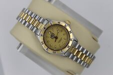 Tag Heuer 2000 WE1420 Classic Professional SS GOLD 2 Tone Watch Womens Ladies