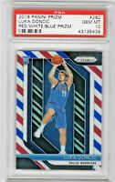 Luka Doncic 2018 Panini Prizm  Basketball Red White Blue Prizm #280 PSA 10 Gem