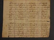 c.1776 Indenture / Apprentice Manuscript Document Poor Children of Cranston R.I.