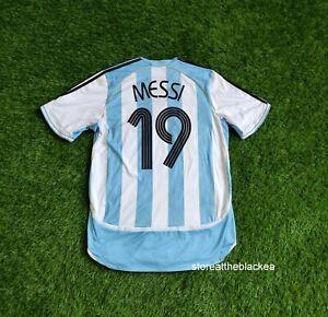 ARGENTINA NATIONAL TEAM 2006 2007 #19 MESSI HOME FOOTBALL SOCCER SHIRT JERSEY