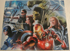 THE AVENGERS Movie Cast Signed AUTOGRAPHED Photograph Chris Hemsworth Evans +
