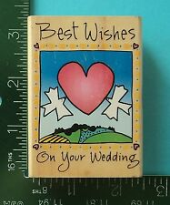 Inkadinkado  BEST WISHES ON YOUR WEDDING DAY Rubber Stamp  Heart Doves