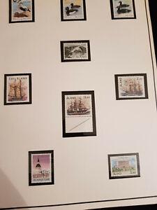 Briefmarken Aland sowie postfrische Werte von 1985-90