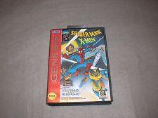 Spider-Man X-Men for Sega Genesis COMPLETE TESTED & WORKING Game CIB