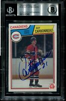 MONTREAL GUY CARBONNEAU signed autographed 1983-84 OPC ROOKIE CARD RC BECKETT
