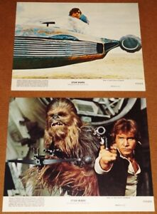 STAR WARS (orig 1977 release) set of 2 Mini-Lobby Cards - Mint Condition