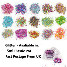 5ml GLITTER POTS CHUNKY MIXED FACE EYE FESTIVAL COSMETIC BODY  SAFE DANCE PARTY